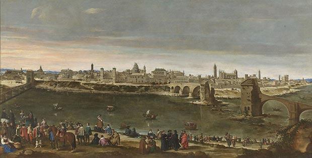 La Vista de Zaragoza en 1647 es un cuadro de Juan Bautista Martínez del Mazo