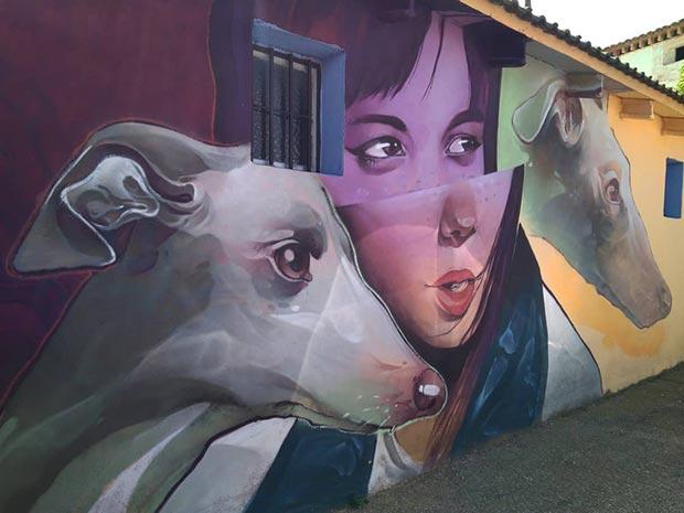 Mural de Treze en Fuendetodos
