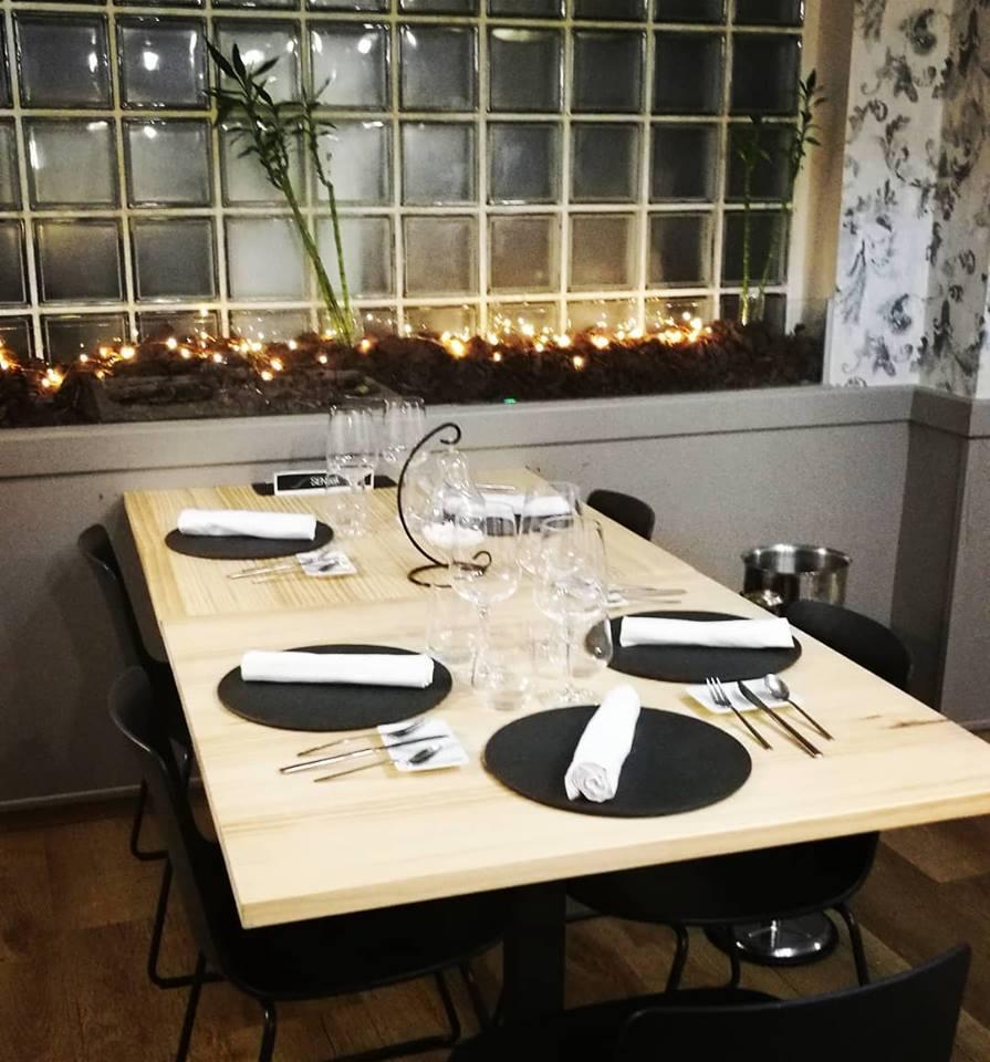 interior del restaurante la senda del chef david baldrich