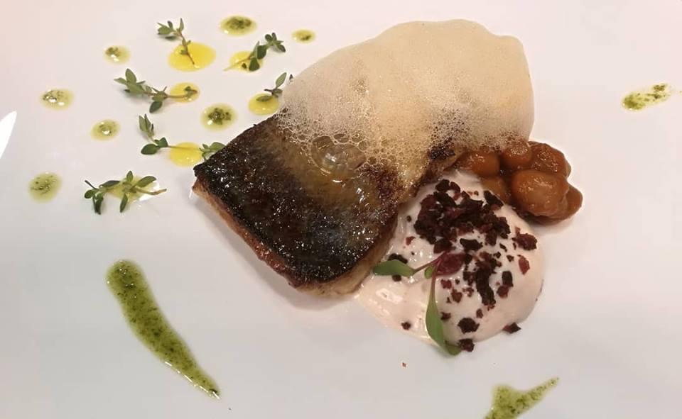 plato del chef david baldrich en el restaurante la senda