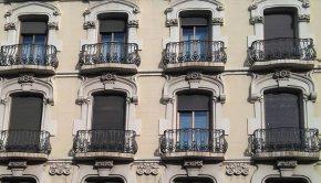 Vista de la Casa Retuerta desde el Paseo Sagasta de Zaragoza