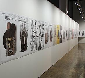 """Exposición """"esto no es un cartel"""" de Isidro Ferrer en el Paraninfo"""