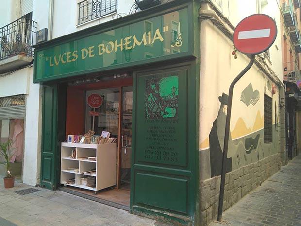 Libreria Anticuaria Luces de Bohemia en Zaragoza