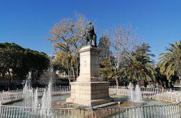 Monumento a Pignatelli en el Parque de Pignatelli de Zaragoza