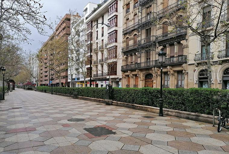 El bulevar central, imagen reconocible de Sagasta