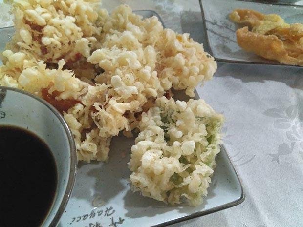 Plato de Tempura japonesa en el Restaurante Hayaci
