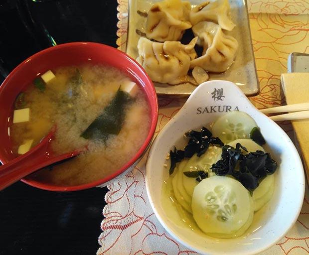 entrantes restaurante sakura calle luis vives zaragoza