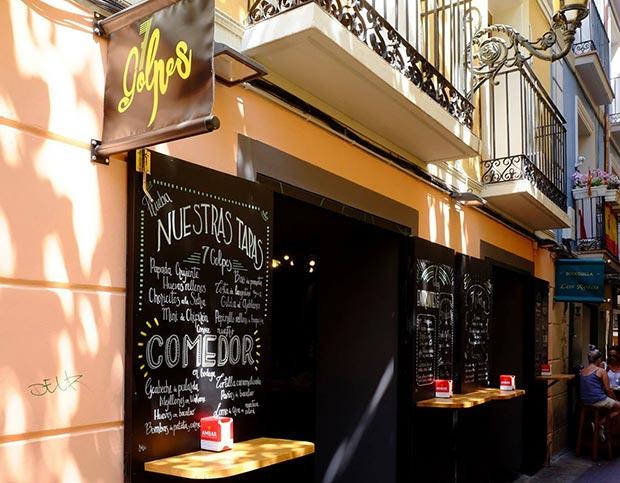 fachada del bar restaurante 7 golpes zaragoza