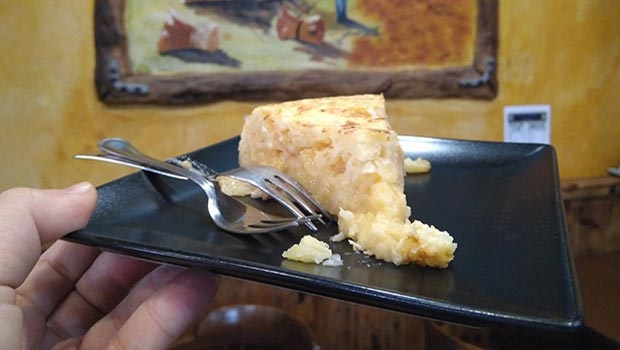 tortilla en el nuevo bar maga
