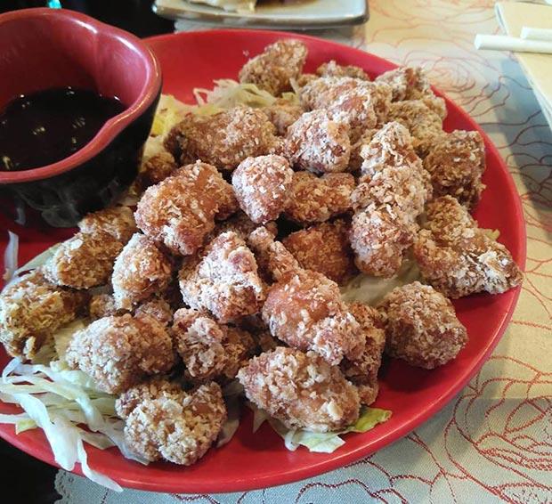 pollo en el restaurante sakura calle luis vives zaragoza