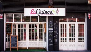fachada del restaurante vegetariano la quinoa