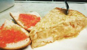 tortilla de patata en el zeppelin cafe