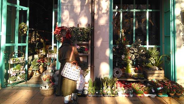 villafiori floristeria en la calle manifestación de zaragoza