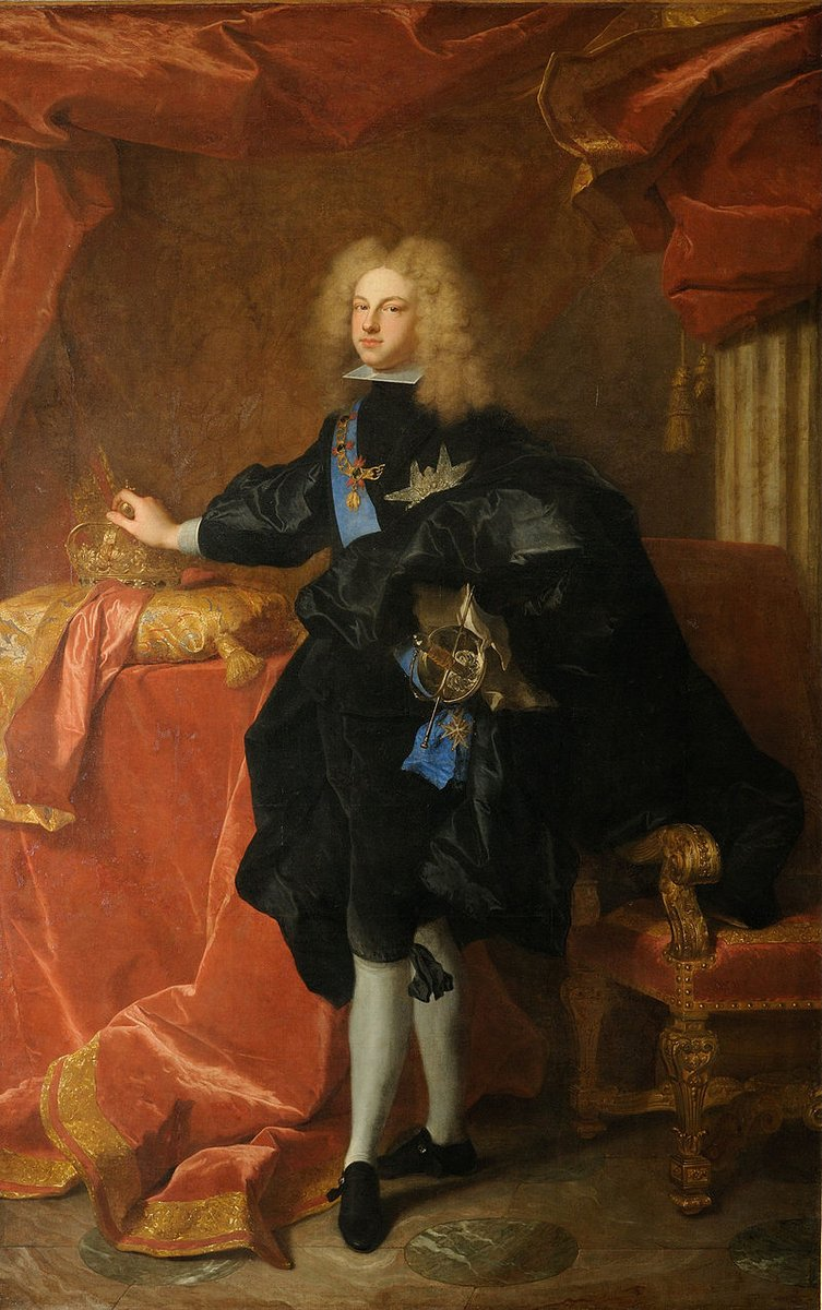 Felipe de Anjou, que había sido coronado como Felipe IV de Aragón y V de España