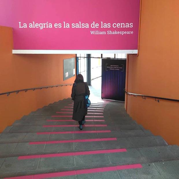 Escaleras de acceso al Palco de las Esquinas