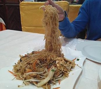 Postre en el Restaurante chino Xin Qiao