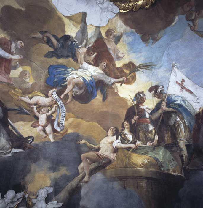 """bóveda """"Regina Martyrum"""" en el Pilar de Zaragoza"""