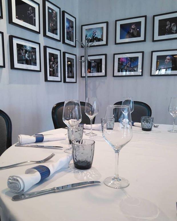 mesa del restaurante el palco de las esquinas de zaragoza