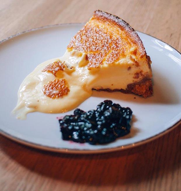 tarta de queso en el garbo