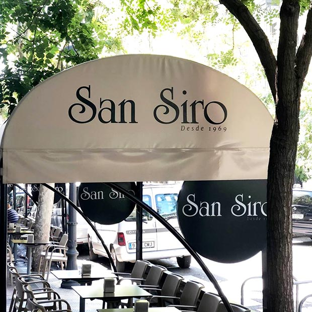 Cafetería San Siro terraza de invierno