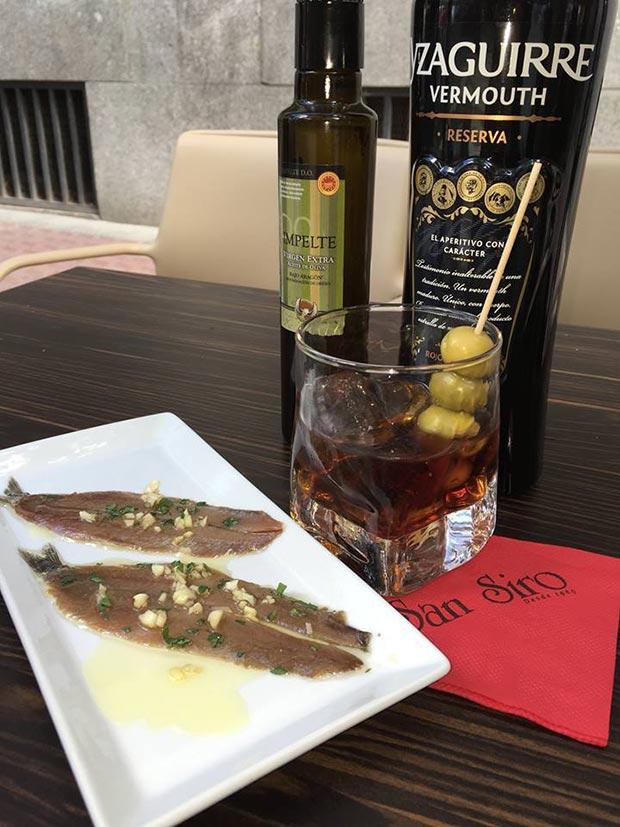 Cafetería San Siro vermu en Zaragoza