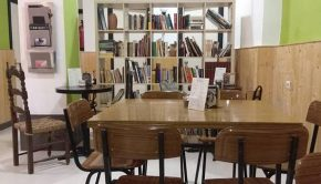 Interior del Bar Cafetería Vegano La Piparra