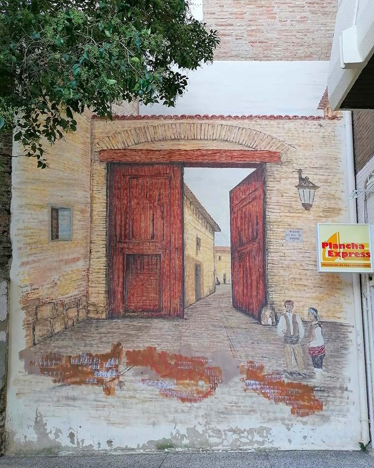 Mural de la Puerta de Sancho en Zaragoza