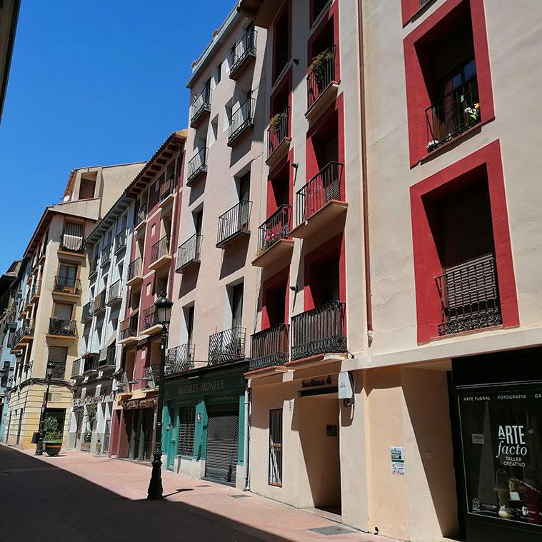 Vista de la Calle San Pablo desde la Avenida César Augusto