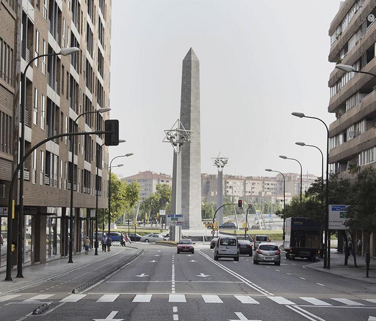 Vista de la Plaza Europa desde el Paseo María Agustín