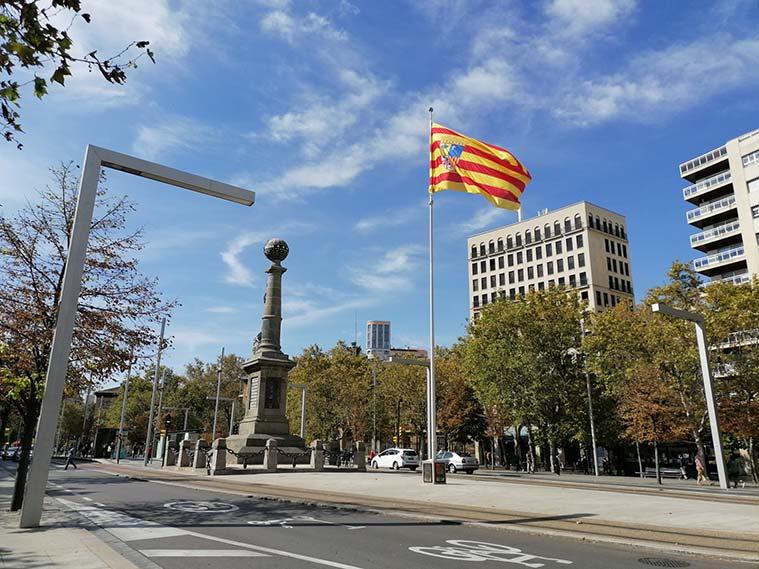 Monumento al Justiciazgo en la Plaza de Aragón de Zaragoza