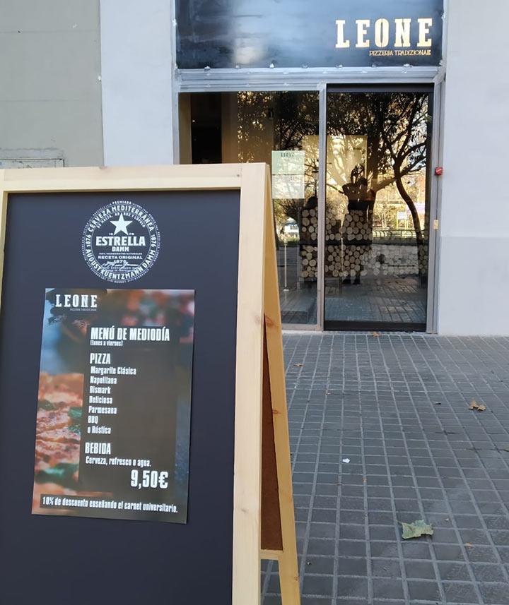 Leone Pizzeria Tradizionale entrada plaza san francisco