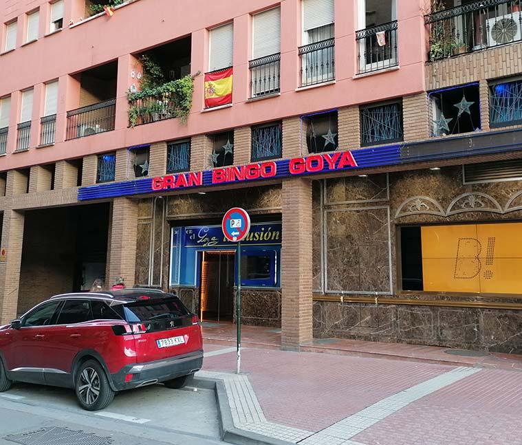 Casa de la familia Goya en Zaragoza de la que ahora queda como testimonio un bingo del mismo nombre