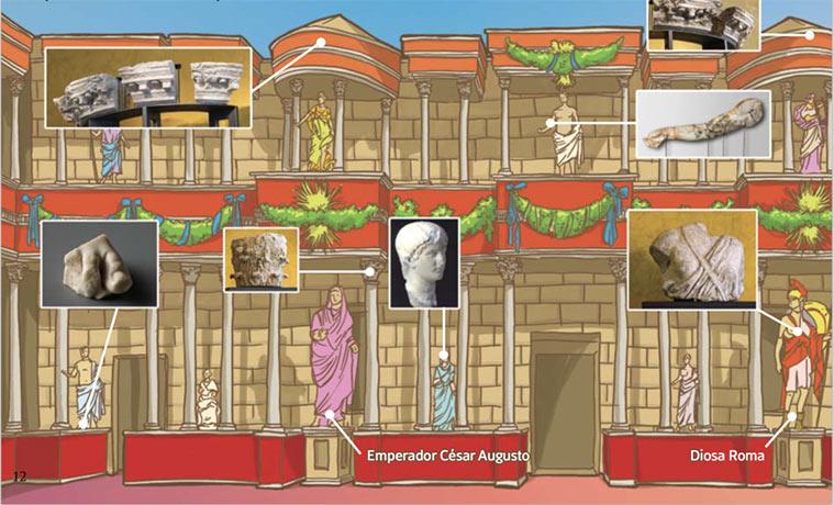 Detalle Guía Didáctica Museo Teatro Caesaraugusta