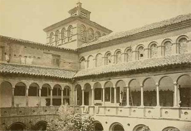 El exconvento de Santa Fe, transformado en Museo Provincial, hacia 1875. Laurent. VV.AA.: J. Laurent y Cía. en Aragón.