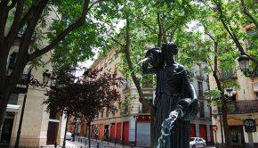Fuente de la Samaritana en la Calle Manifestación de Zaragoza