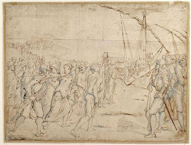 La Expulsión de los Moriscos, dibujo de Vicente Carducho. (Museo del Prado, Madrid)