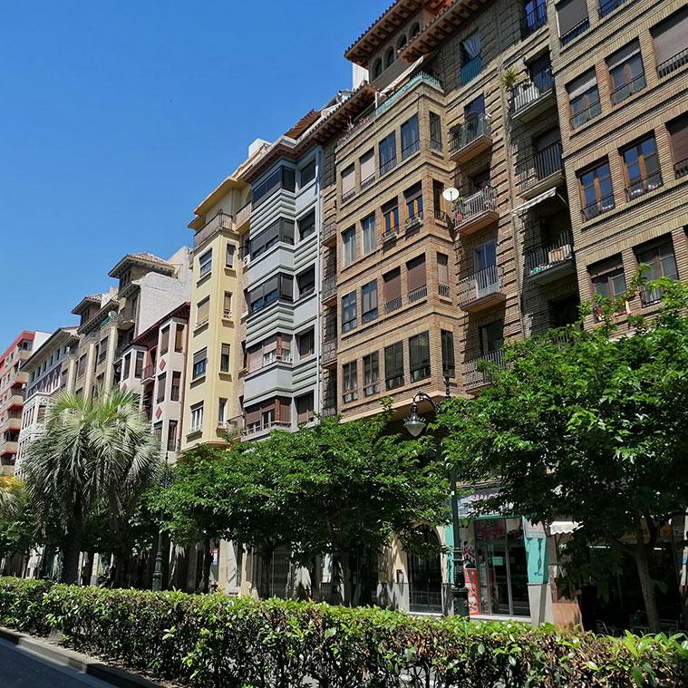arquitectura de los edificios de la calle conde aranda de zaragza