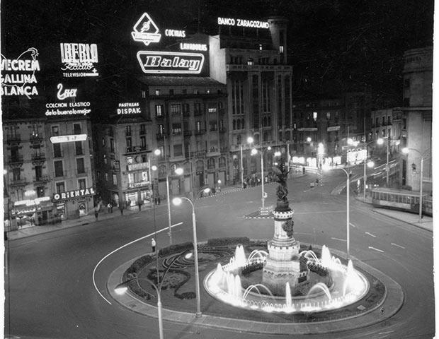 Plaza de España en los años 50 (Imagen: Archivo Histórico del Ayuntamiento de Zaragoza)