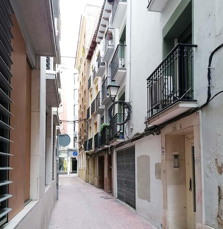 La Calle Urrea en el barrio judio de zaragoza