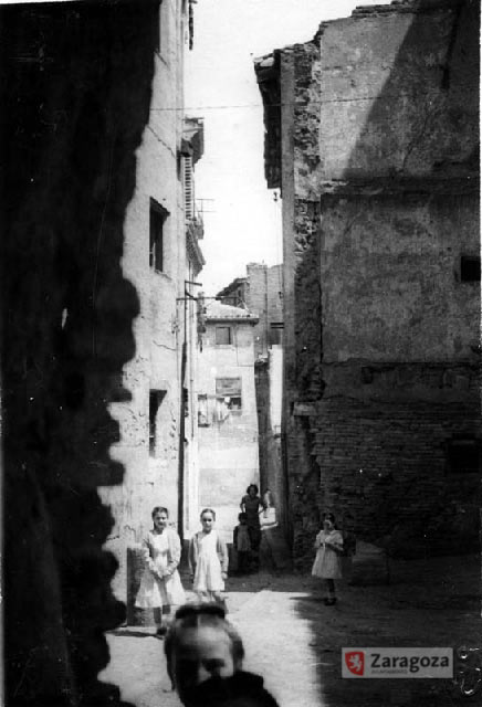 Calle de Garro durante la construccion de la Calle San Vicente de Paul