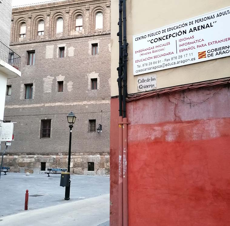 Calle de los Graneros: el uso de una denominación procedente del mundo vegetal delata el origen judío de esta zona