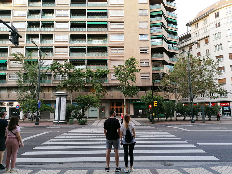 Paseo Pamplona de Zaragoza