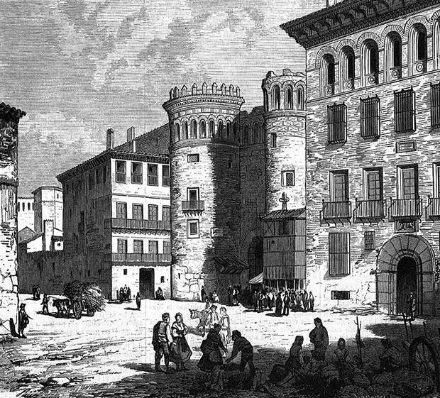 la Puerta de Toledo en un dibujo publicado en el siglo XIX en la revista El Museo Universal