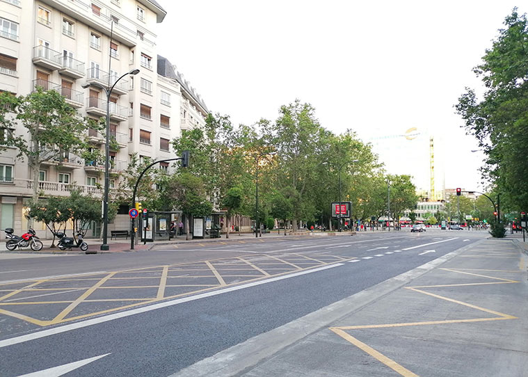 Paseo Pamplona Zaragoza