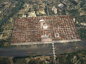 Caesar Augusta fue el nombre de la ciudad romana de Zaragoza, fundada como colonia inmune de Roma en el año 14 a. C.