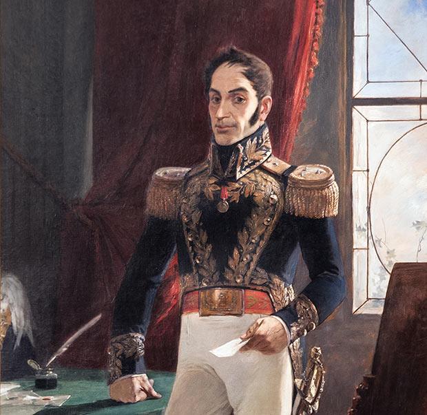 El Libertador en traje de campaña (1895) Arturo Michelena