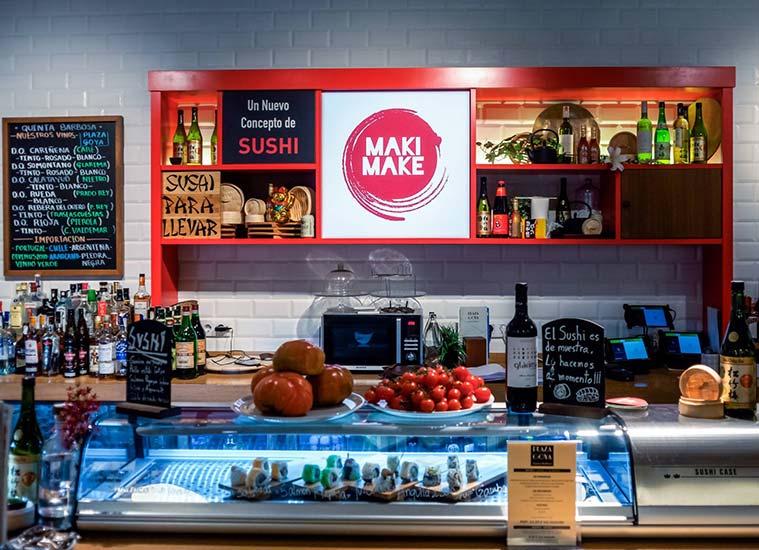 Maki Make, especializado en comida japonesa