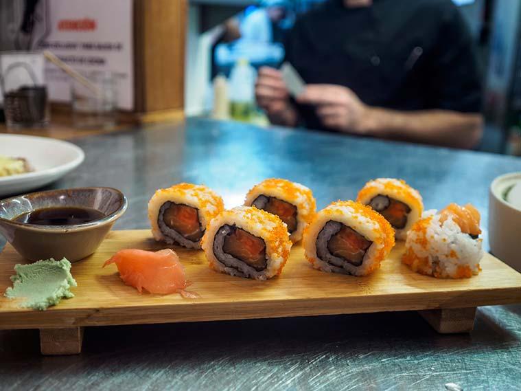 Sushi en Plaza Goya