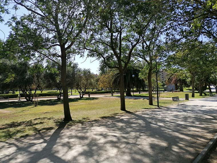 Parque de la Granja camino