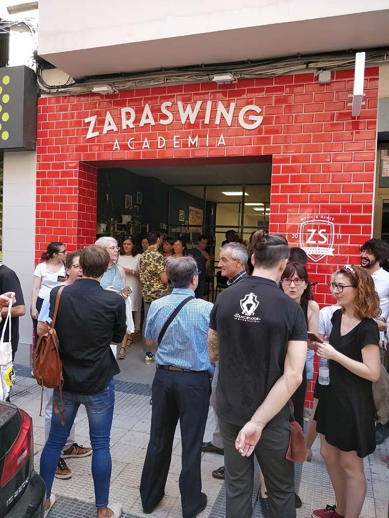 El local de la academia de baile Zaraswing en la calle Madre Sacramento 26